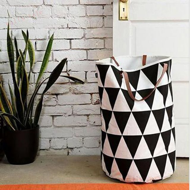 Ins HOT SALE models of children room mesh Home Furnishing handle toys can stand BAG canvas STORAGE BAG