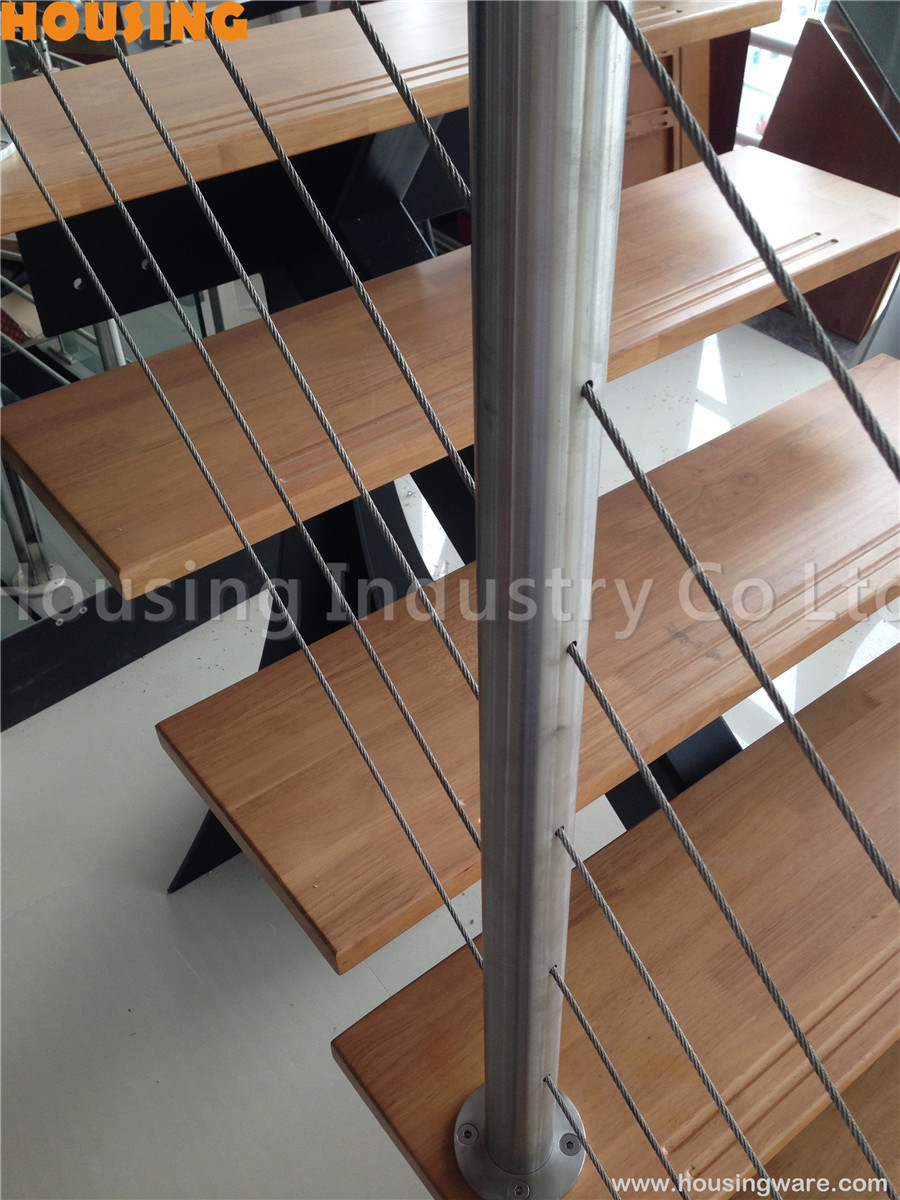 medium resolution of stairs wire railing with stainless steel handrails in safety design on aliexpress com alibaba group