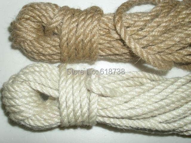 DIY 5mm White,Natural coarse hemp rope diy handmade rope net