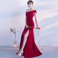 BetiKama Summer Bohemian One Shoulder Long Dress Women Sexy Bodycon Dress Red Elegant Wedding Special Occasion Party Dresses