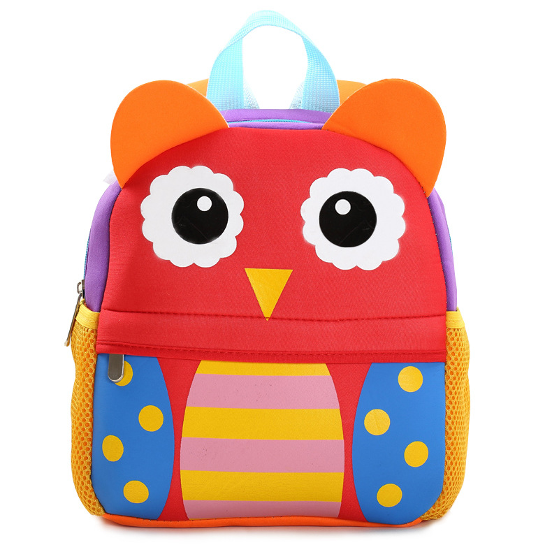 Children 3D Cute Animal Giraffe Monkey Owl Design Backpacks Toddler Kids Neoprene School Bags Kindergarten Cartoon Backpack Bag 2017 new children school backpacks small 3d animal monkey backpack baby toddler backpack kids kindergarten schoolbag for boys
