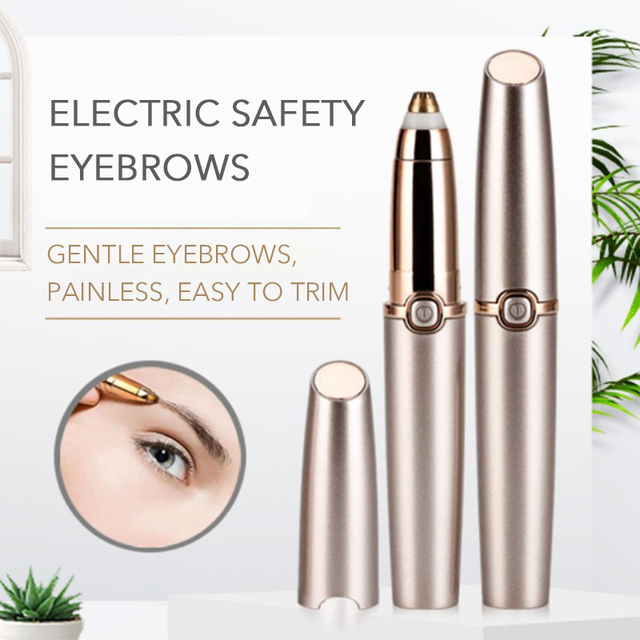 Lipstick Mini Epilator Thread Eyebrows Trimmer ABS Material Painless Machine Epilation Battery Electric Epilator