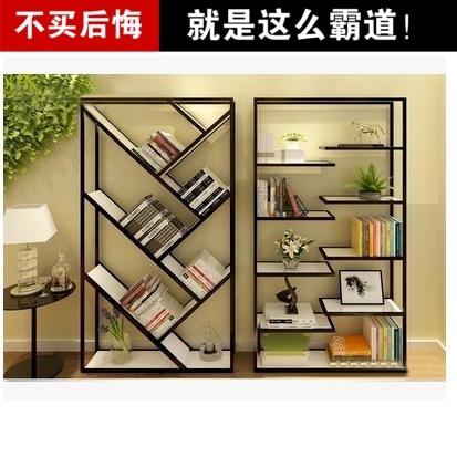 americana ikea creativo madera de hierro forjado estantes estantera moderna pantalla de estilo minimalista de almacenamiento - Estanteria Moderna