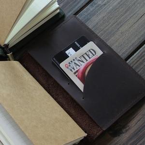 Image 5 - Alice Story 100% Genuine Leather Multi Function Travelers Notebook Diary Journal Vintage Handmade Cowhide Notebook Planner