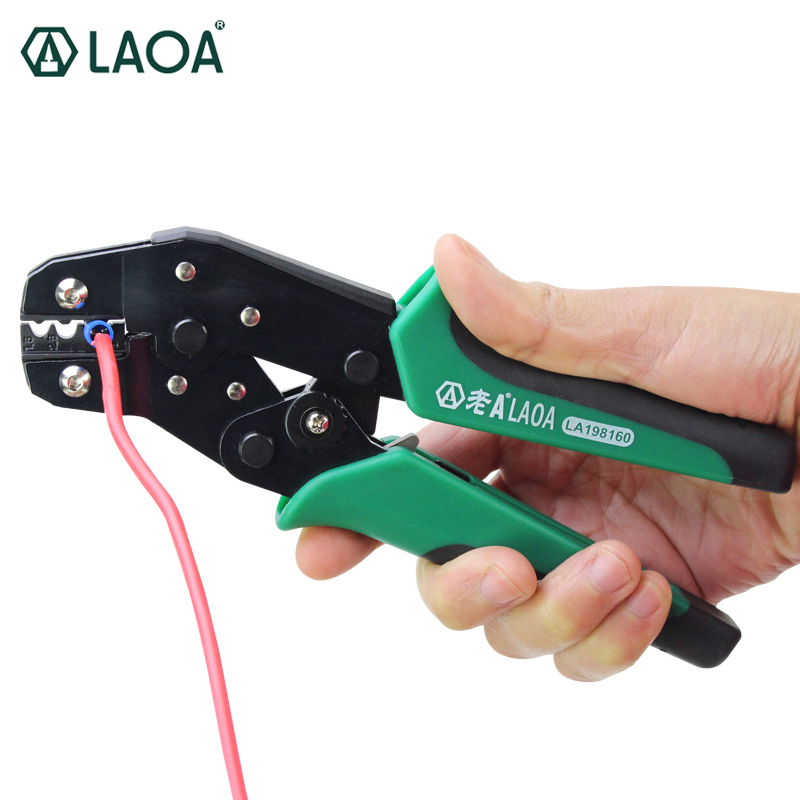 LAOA Multifunctional Ratchet Crimping Plier Terminal Module wire Crimping Tools with macthed die multifunction ratchet s wire crimpers terminal module crimping plier press plier press pinchers crimping too l made in taiwan