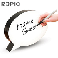 ROPIO Creative Cinema Night Light Handwritten Light Box LED White Night Lamp Sign Writing Message Board With Pens For Love Gift