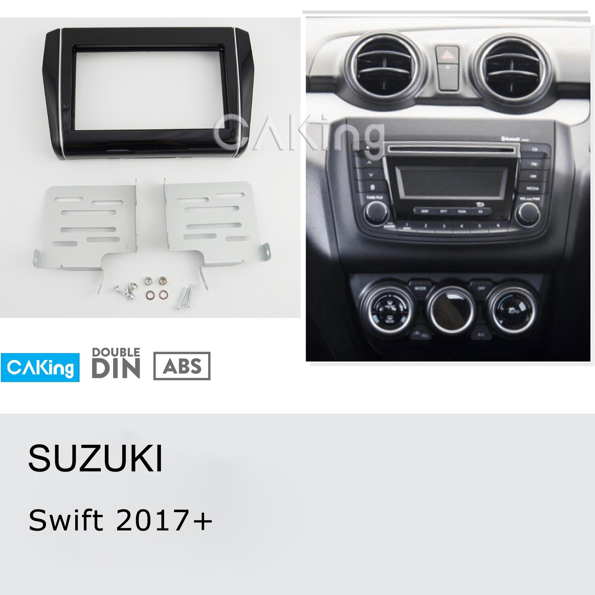 Double Din Car Fascia Radio Panel for SUZUKI Swift 2017 Console Dash Fitting Kit Install Facia