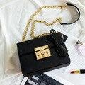 Envío de la nueva marca de moda de las mujeres solo hombro bolsa de mensajero feminina bolsa con correa de cadena de lujo 100% de tiro en especie