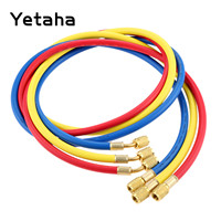 Yetaha 3Pcs Air Conditioning AC Charging Hose 1.5m 60 inch R410A R134A R12 R22 R502 Refrigeration Tools Manifold Set