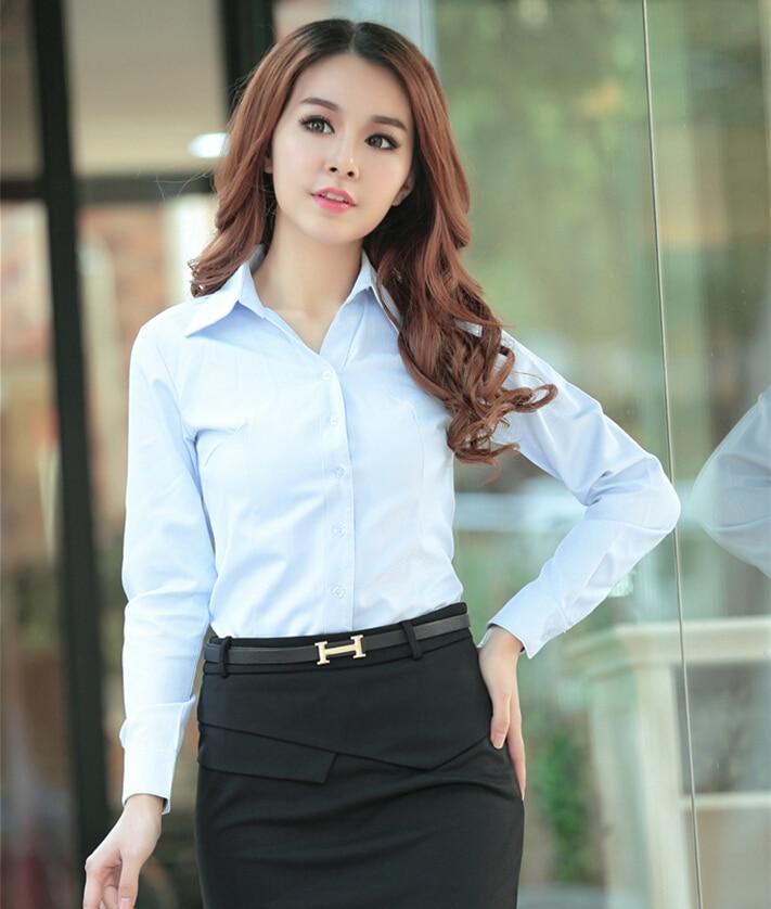 New Arrival 2015 Womens Shirts Work Wear Long Sleeve Tops