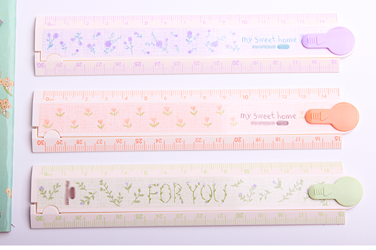 DIY 30cm Folding Ruler Multifunction Drawing Rulers School Students Stationery