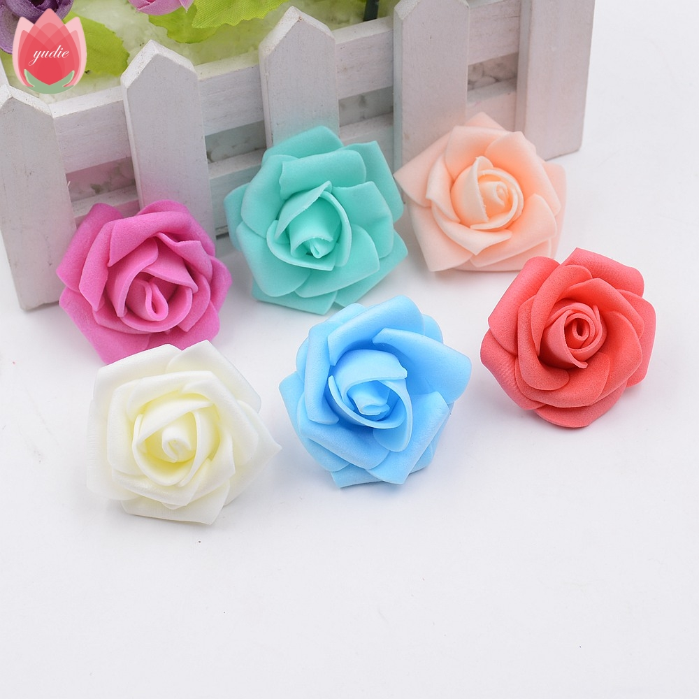 Online buy wholesale artificial flowers wholesalers from china wholesale 100pcs 4cm foam rose handmade artificial flowers for wedding home decoration mariage flores rosa scrapbooking dhlflorist Choice Image