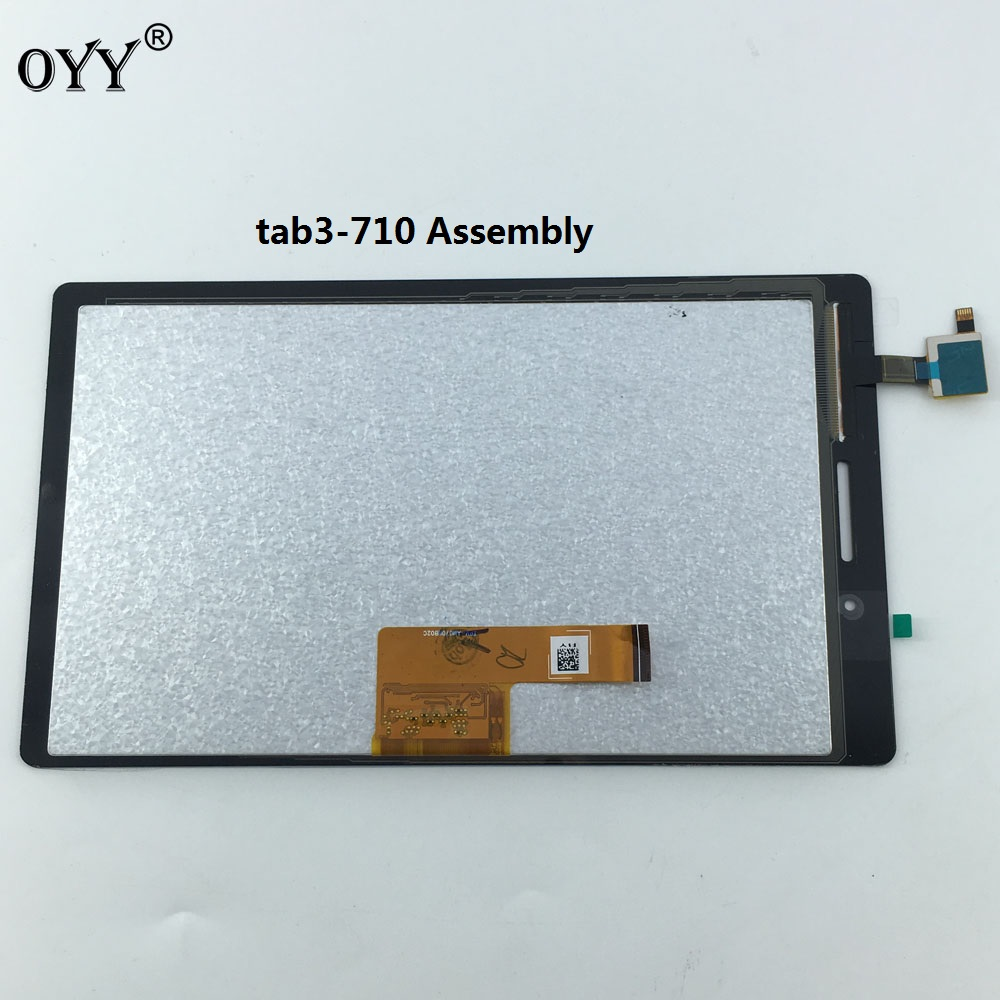 LCD Display Panel Monitor Touch Screen Digitizer Glass Assembly For Lenovo Tab 3 710 Essential Tab3 TB3-710F TB3-710L TB3-710I for lenovo yoga tablet 2 1050 1050f 1050l new full lcd display monitor digitizer touch screen glass panel assembly replacement