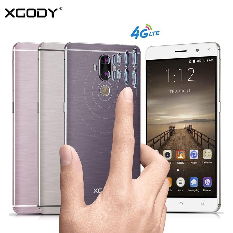 Unlocked <font><b>Xgody</b></font> Y19 4G Smartphone 6 Inch Android 7.0 Fingerprint 2GB RAM+16GB ROM Quad Core 2SIM 2900mAh Battery GPS <font><b>Cell</b></font> <font><b>Phone</b></font>