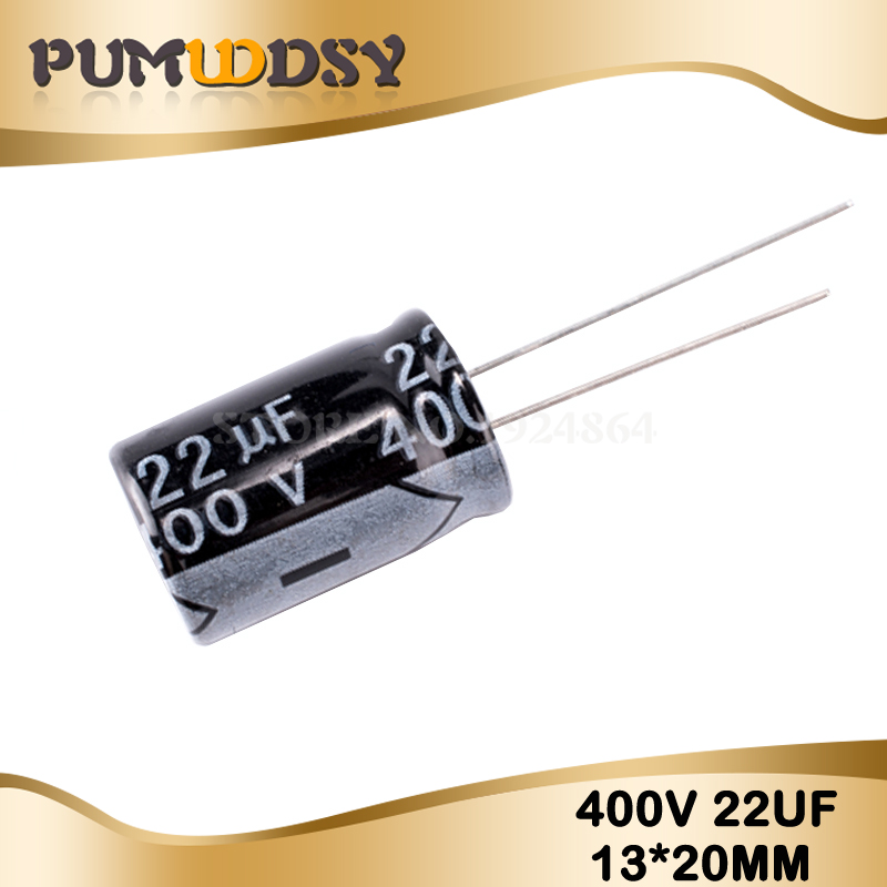 10PCS Higt Quality 400V22UF 13*20mm 22UF 400V 13*20 Electrolytic Capacitor