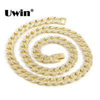 Gold Finish 15mm 30 Iced Out Hip Hop Cz Chain Necklacet Mens Miami Cuban High Quality Fashion Design For Men And Women