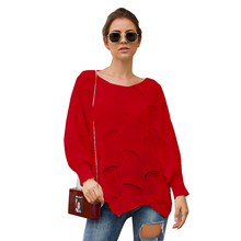 Adogirl eyelash hollow out short length loose knit sweaters women asymmetrical knit wear sweater mujer invierno 2019 casual tops contrast binding asymmetrical hem knit tee