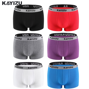 Image 4 - Kayizu 6ピース/ロットメンズ下着コットンボクサーパンツ通気性ボクサーショーツ男性パンティーセクシーな男性下着cueca masculina