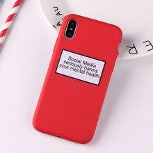 a1206c9e8082 Social Media Szkody Twój Zdrowia Psychicznego Cytat Śmieszne Miękkiego  Silikonu Cukierki Case Coque Dla iPhone 6