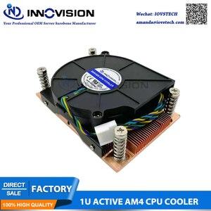 Novo am4 dissipador de calor amd4 1u cpu cooler para 1u servidor 28mm altura