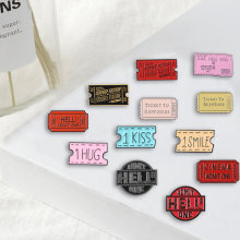Various command Tickets pins Fun Game Design Brooches Badges Bag Clothes Fashion Enamel pins Gifts For Friends Jewelry wholesale(China)