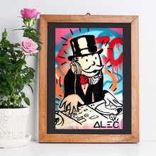 Alec Monopolyingly Man Graffiti Wall Art Poster And Print Canvas Painting Decorative HD Picture For Office Bedroom Home Decor