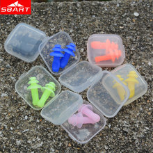 SBART Upgrade Adult Waterproof Ear Plugs Soft Silicone Flat Shape Grip More Fit Swimming Ear Plugs with Box Water Sport Tackles