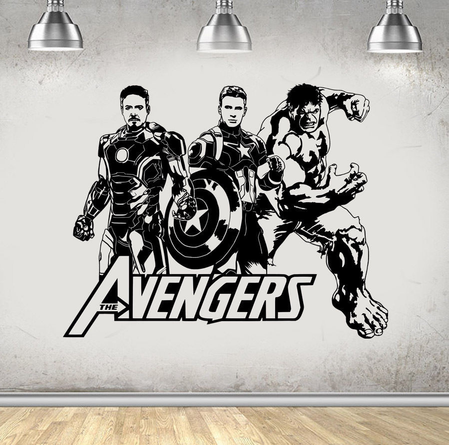 New Arrival Design Avengers Hulk Iron Man Wall Stickers