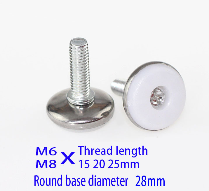Adjustable Levelling Feet Foot 60mm x 25mm M8 Thread Table Desk Cabinet Cupboard