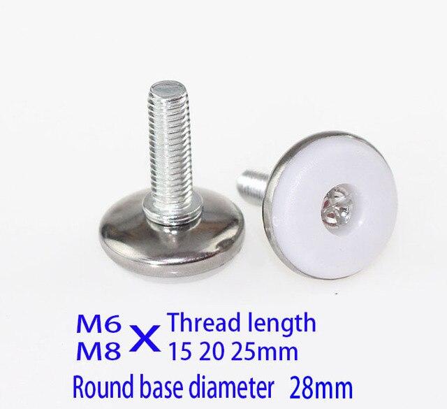 M6 M8X (20 25) Bolt kabinet voeten pad schroef Verstelbare machine case metal Been, staal en nylon meubels pads kast been