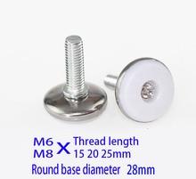 M6 M8X (20 25) Cıvata dolap ayak pedi vida Ayarlanabilir makine kasası metal bacak, çelik ve naylon mobilya pedleri dolap bacak