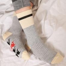 Забавные носки для бега с принтом в виде алфавита на заказ; сезон осень-весна-осень; Новинка года; спортивные носки из Добби