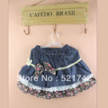 hot selling  children girls skirt  kids tulle tutu dance skirts jeans design pettiskirts ST131202