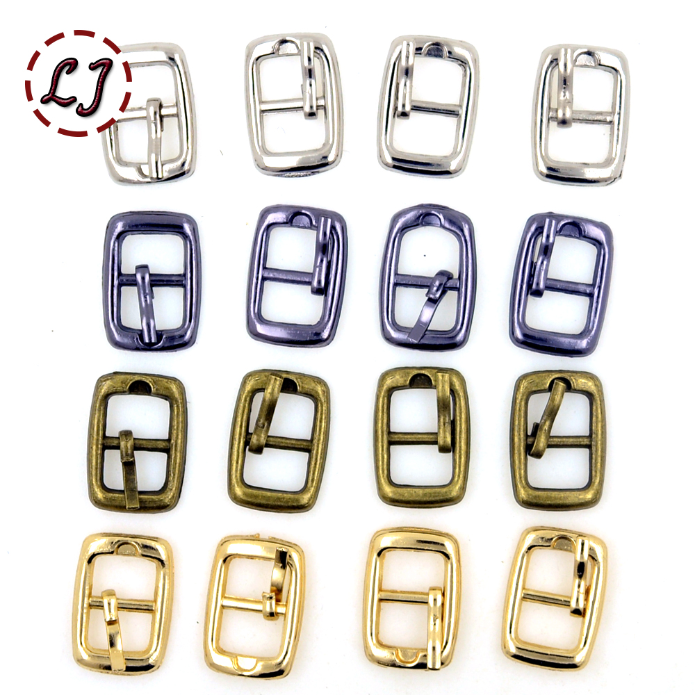 Small buckles for crafts - Hot Sale 30pcs Lot Silver Gun Black Gold Bronze 8mm Small Square Round Alloy