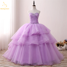 Bealegantom 2019 New Real Photo Quinceanera Dresses Ball Gown With Beaded Sweet 16 Dress For 15 Years Vestidos De Anos QA1300