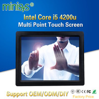 Minisys 15 Inch Smart Capacitive Touch Screen Computer Intel I5 4200u Dual Core Fanless All In One Tablet PC Embedded SIM Slot