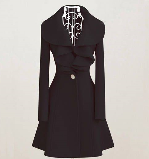 Bayan Kaban Real Abrigos Mujer Wool Coat Aliexpress Europe 2016 Fall And Winter Clothes New Flouncing