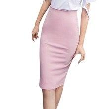 2a8bac71d364 Liva girl Summer Sexy Chiffon Pencil Skirts Midi High Waist Casual Solid  Color