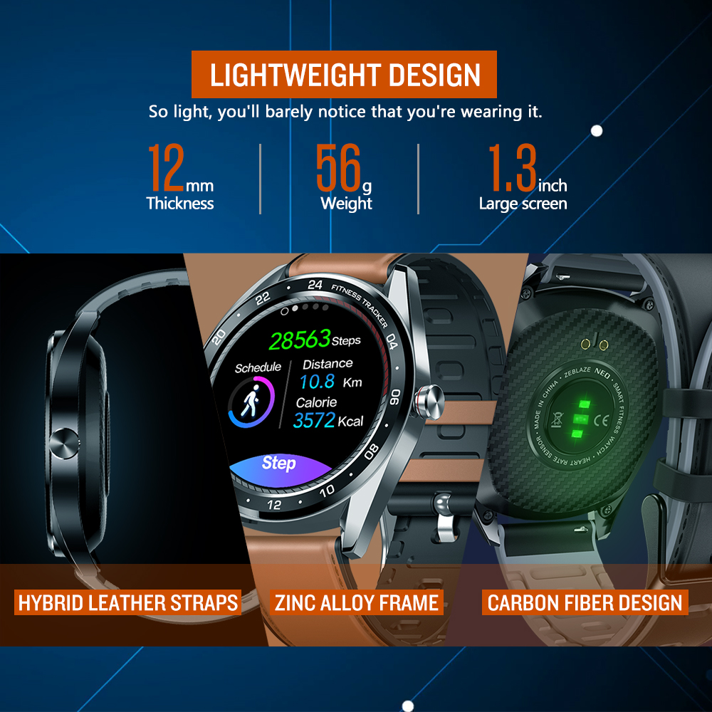 Image 4 - New Zeblaze NEO Series Color Touch Display Smartwatch Heart Rate Blood Pressure Female health CountDown Call rejection WR IP67-in Smart Watches from Consumer Electronics
