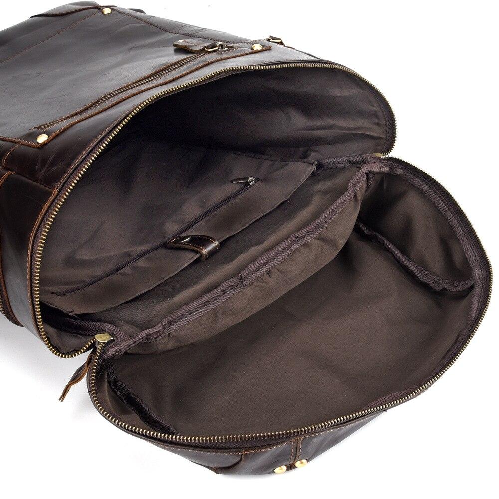 Wachs Kapazität Camping Freizeit Hohe Weichen Große Männer Tasche Neueste Reise Öl Mann Rucksack Daypack Vintage Dark Computer Leder Coffee Qualität EAwxw47XqS