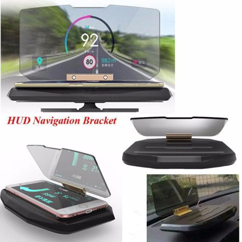 XYCING H1 Auto HUD Navigatie Display Beugel Head Up Display Projector Auto Mobiele Telefoon Houder Voor elke Auto en alle Smart Telefoons