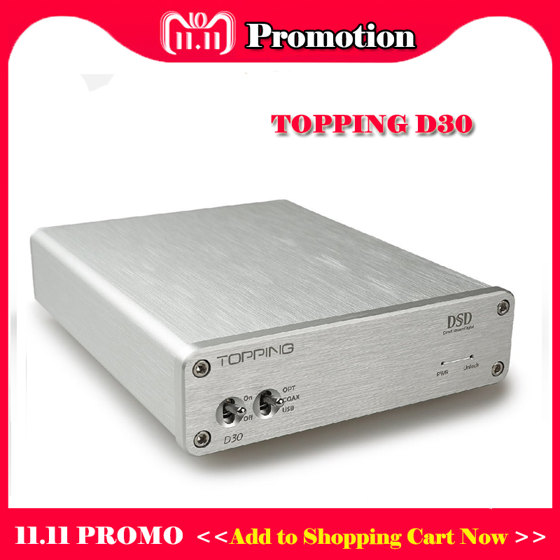 TOPPING D30 Hifi Amplifier DAC Audio Desktop DSD DAC USB Optical Fiber Amplifier Audio Decoder CS4398 XMOS Amplifiers DAC Amp цена