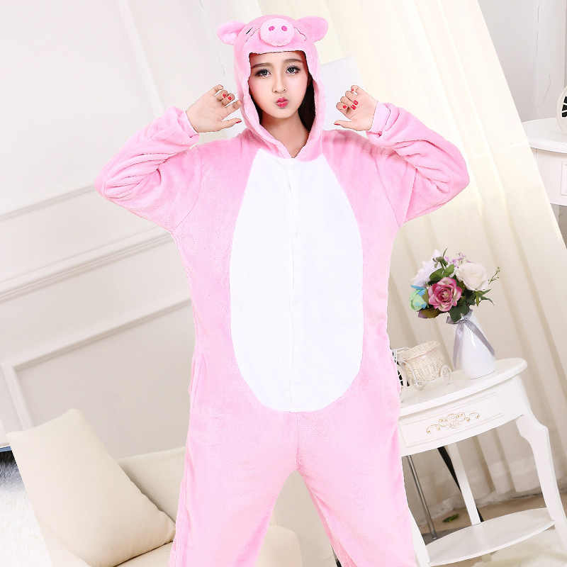 ... High Quality Pink Pig Onesie Kawaii Cute Animal Pajama Girls Women  Adult Party Wear Suit Thicken 7a3de39ac5b6