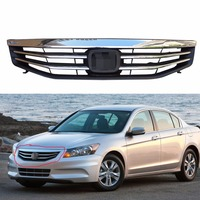 1Pcs Front Bumper Radiator Grille Upper Grill Chrome For Honda Accord 2011