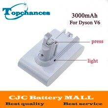 Высокое качество 21.6 В 3000 мАч литий-ионная Батарея для Dyson V6 матрас шнур-бесплатно ручной Пылесосы для автомобиля (белый Цвет)