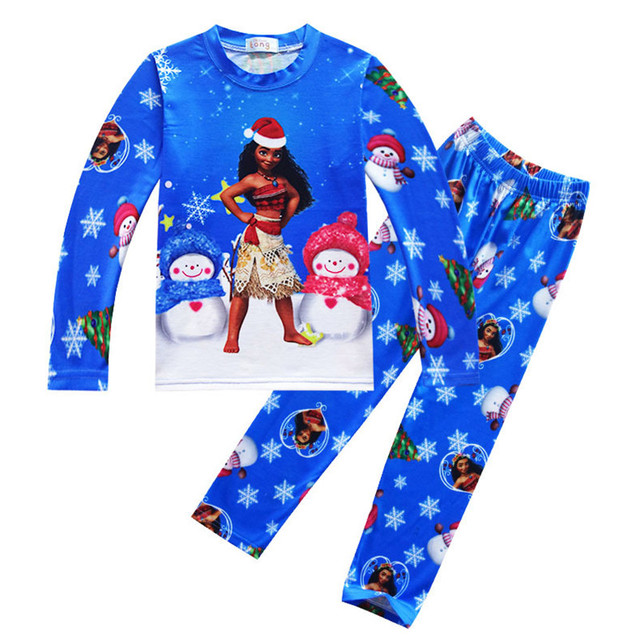 c18eb10fc7 Moana Diseño Grils pijamas moana muñeco de nieve de Navidad imprimir top +  pant 2 unids. Sitúa el cursor encima para ...