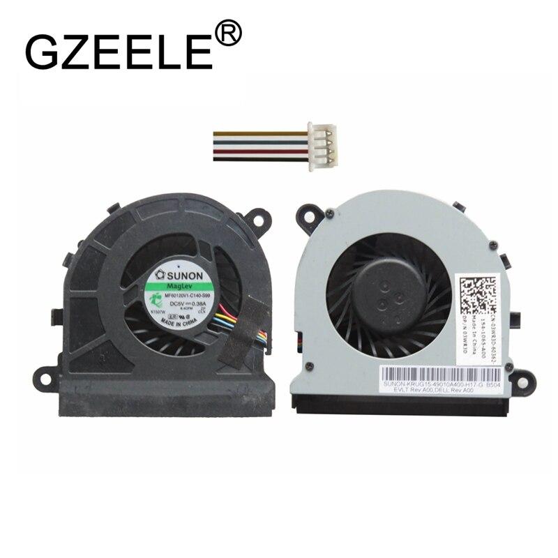 GZEELE New CPU Cooling Fan For Dell LATITUDE E5520 E5520M 5520 Laptop Notebook Cooler FAN 03WR3D MF60120V1-C140-S99 COOLING FANS nre m70 latitude d810 notebook fan gb0506phv1 a