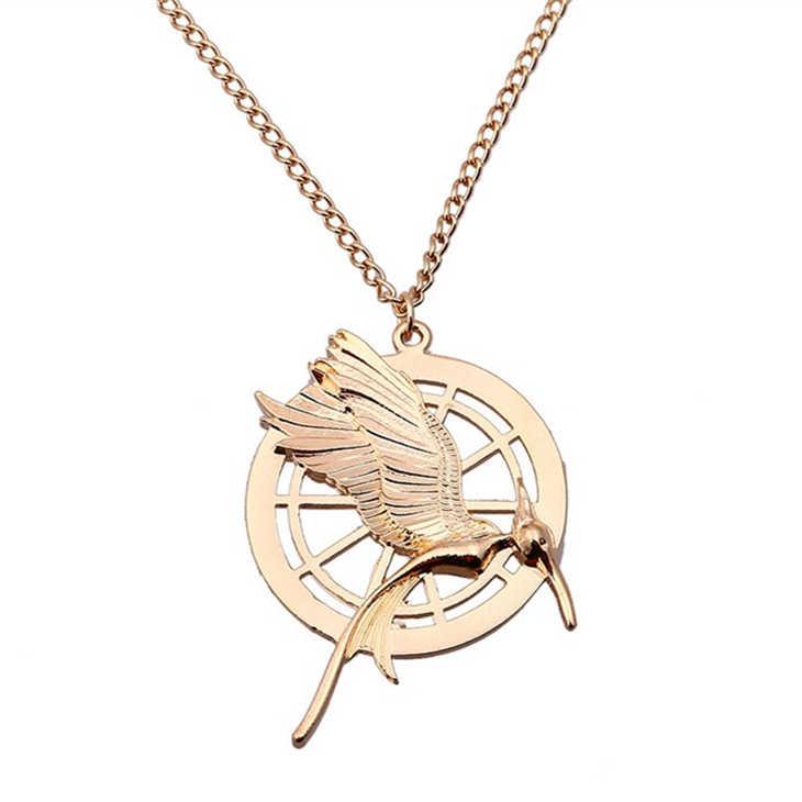 Hunger Games Kalung Burung Phoenix Eagle Hewan Logo Liontin Vintage Fashion Baru Panas Film Perhiasan untuk Pria Wanita Anak Grosir
