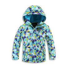 купить Waterproof Index 5000mm Warm Child Coat Windproof Sporty Boys Girls Jackets Children Outerwear Clothing For 3-12 Years Old дешево