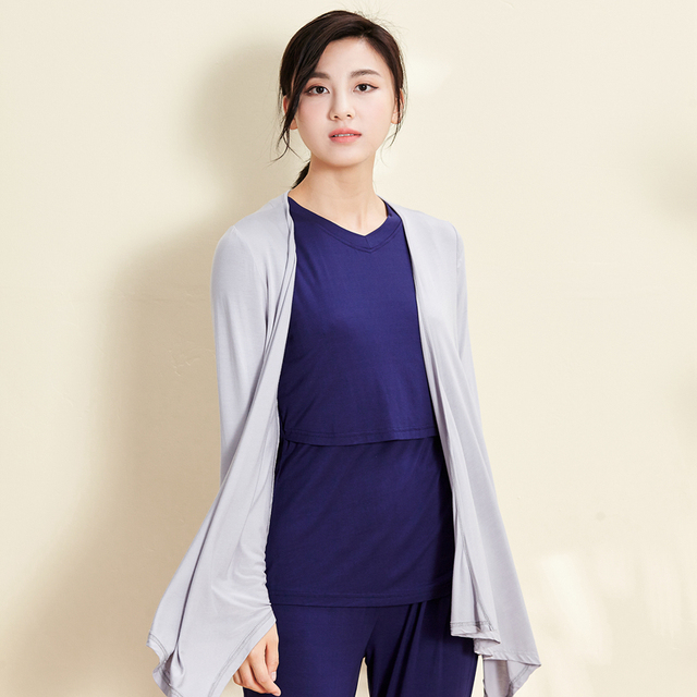 5a30bcdd0f new Arrive Green Mother 3pcs Winter Maternity Sleepwear long sleeve Nursing  Pajamas and Maternity Gown Robe
